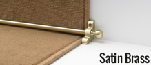 Satin Brass Stair Rods | Buy Now